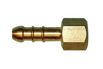 Messing slangpilaar/binnendraad 3/8 inch binnendraad, 10 mm