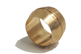 Bi-conische knelring messing 10 mm