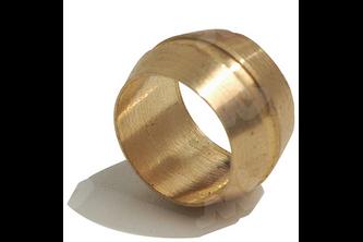 Bi-conische knelring messing 15 mm