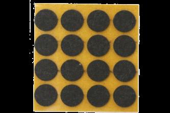Oranje Ora-vilt zelfklevend 17 mm, 20 viltjes, Bruin