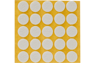 Oranje Ora-vilt zelfklevend 22 mm, 20 viltjes, Wit