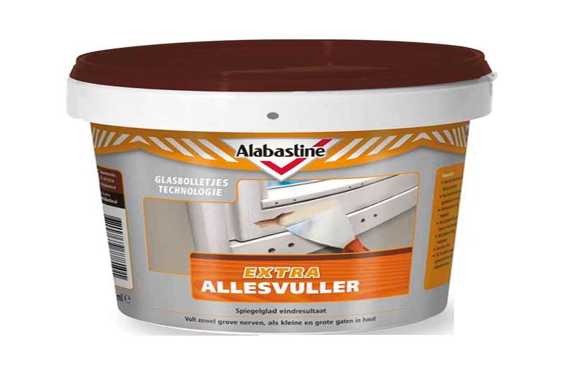 Afbeelding van Alabastine extra allesvuller hout 500 ml, wit, pot