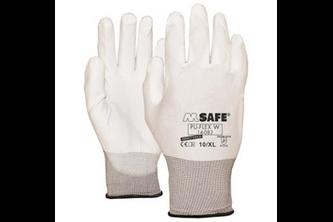 M-Safe PU-Flex Wit 14-083 handschoen  , L