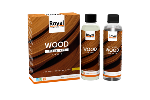 Oranje furniture care teakfix wood care kit + cleaner