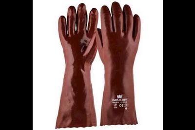 M-SAFE Handschoen PVC rood enkel gedipt
