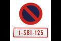Carpoint sticker verboden parkeren