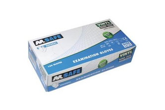 M-Safe 4060 disposable vinyl handschoen