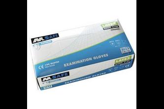 M-Safe 4140 disposable latex handschoen 100 stuks 7/S, NATUREL