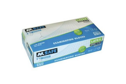 M-safe 4160 disposable latex handschoen 100 stuks 6/xs