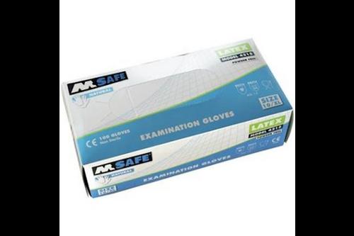 M-safe 4215 disposable latex handschoen 100 stuks 7/s