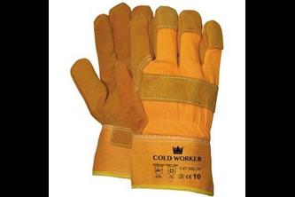 M-SAFE Splitlederen winterhandschoen met gele kap