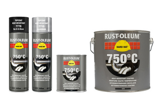 Rust-Oleum Hittebestendige Coating 750 ML, ZWART, BLIK