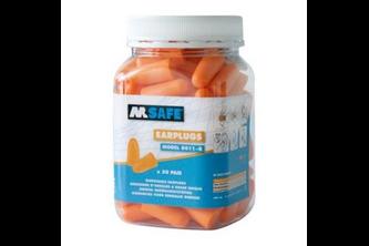 M-Safe oordop 8011-R 50 paar  , Oranje, -