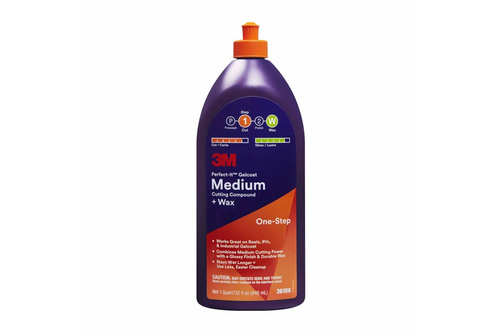 3m perfect-it gelcoat medium cutting compound & wax 473 ml