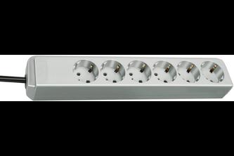 Brennenstuhl Eco-Line stekkerdoos 6-voudig lichtgrijs 1,5m H05VV-F 3G1,5