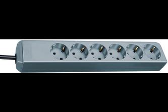 Brennenstuhl Eco-Line stekkerdoos 6-voudig zilver grijs 1,5m H05VV-F 3G1,5