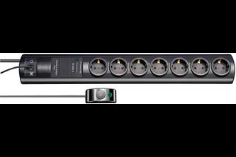 Brennenstuhl Primera-Tec Comfort Switch Plus 19.500A stekkerdoos met overspanningsbeveiliging 7-voudig zwart 2m H05VV-F 3G1,5