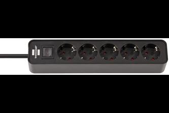 Brennenstuhl Ecolor stekkerdoos 5-voudig zwart 1,5m H05VV-F 3G1,5