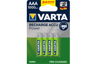 Varta AAA batterijen Recharge Accu Power 1000mAh 4 stuks