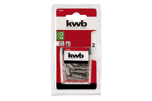 Kwb 25 bits basic torx 20  box