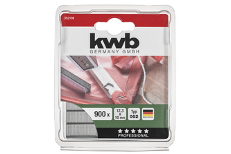 kwb Nieten, 12,3 mm breed, platte draad, staal, C-punt 052/352