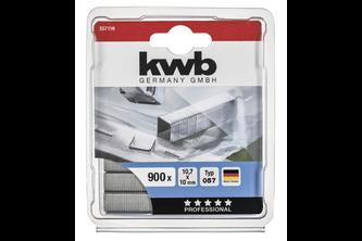 kwb Nieten, 10,7 mm breed, platte draad, staal, C-punt 057/357
