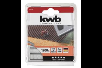 kwb Nieten, 10,6 mm breed, fijne draad, staal, C-punt 058/359