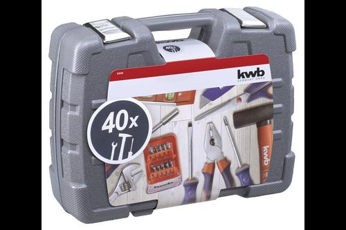 Kwb gereedschapskoffer, 40-delig 26,5 cm