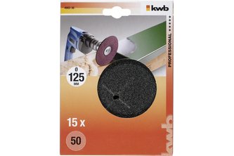 kwb Schuurschijven hout en metaal, korund, Ø 125 mm