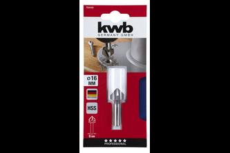 kwb Verzinkboren HSS, 90°, 5-snijkanten, metaalbewerking