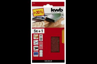 kwb Schuurstroken, hout en metaal, edelkorund, 93 x 185 mm Quick stick