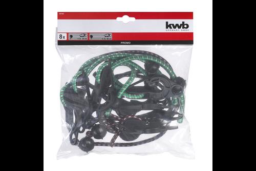 Kwb afdekzeil-spanner-set 8-delig