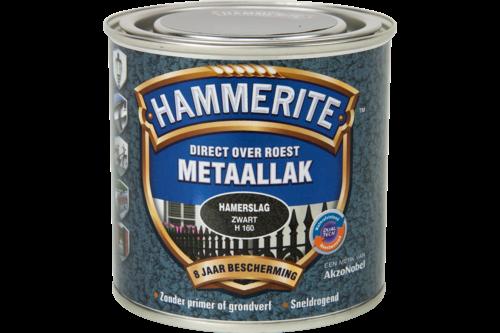 Hammerite metaallak hamerslag 250ml, zwart h160, bus