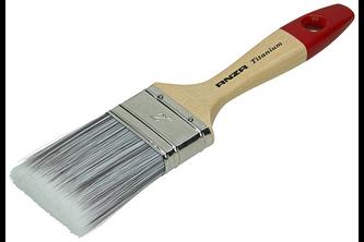 Anza Verfkwast plat Titanium synthetisch haar