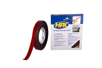 HPX Dubbelzijdige Acryltape HSA High Strength 3200 9 mm x 10 meter, ANTRACIET