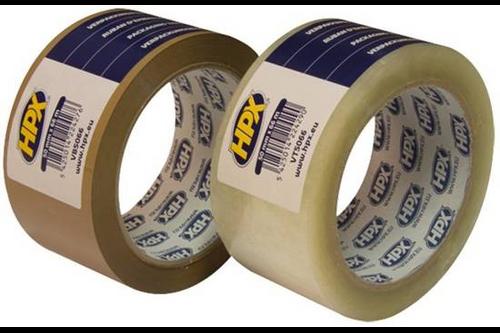 Hpx verpakkingstape 50 mm x 66 meter, transparant