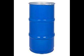 60 liter metalen vat met klemdeksel