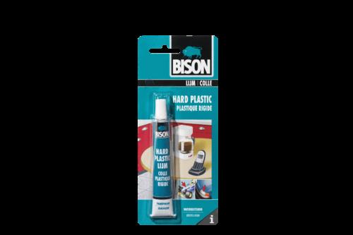 Bison hard plastic lijm 25 ml, tube