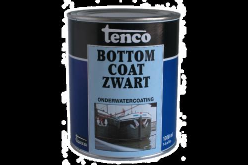 Tenco bottomcoat 1 l, zwart, bus