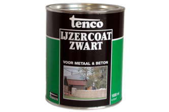 Tenco IJzercoat Zwart 1 L, ZWART, BUS