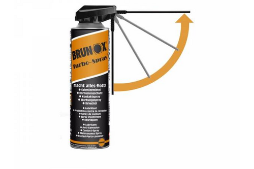 Brunox turbo spray multifunctionele spray 500 ml - powerklik, spuitbus