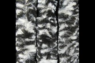 Sun-Arts Kattenstaart 90x220cm Zwart - wit gemeleerd