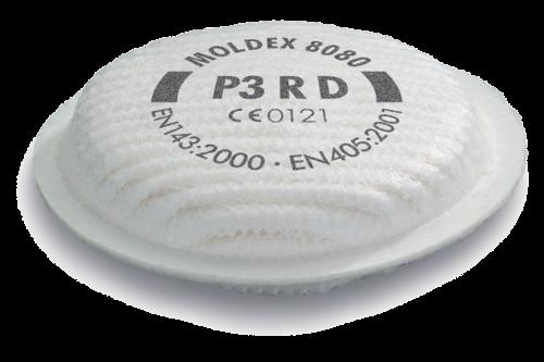 Moldex 8080 fijnstoffilter p3 r d serie voor 8000 1 stuk