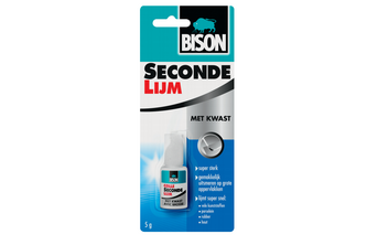 Bison DIY Bison Secondelijm met kwast 5 gr, FLACON