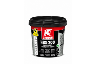 Griffon HBS-200 Liquid Rubber 1 L, Zwart, POT