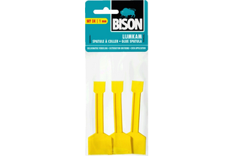 Bison Lijmkam set 3 stuks geel