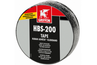 Griffon HBS-200 Tape 20 cm x 10 m, Zwart, ROL