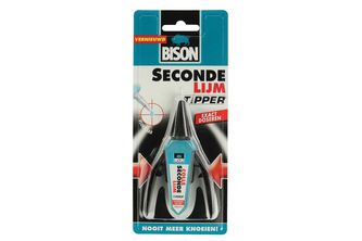 Bison DIY Bison Secondelijm Tipper Vloeibaar 3 GR, BLISTER