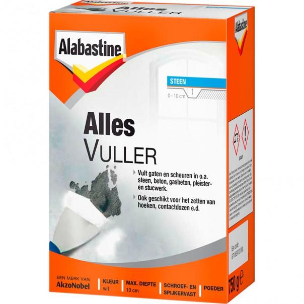 Afbeelding van Alabastine alles vuller 750 gr, wit, pak