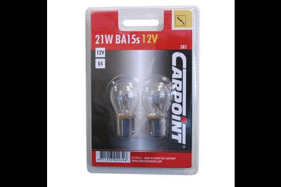 Carpoint Autolamp P21W BA15s/382 Blister 2 Stuks